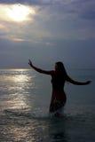 Por do sol em Phuket Fotografia de Stock
