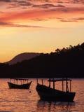 Por do sol em Porto Belo Foto de Stock Royalty Free