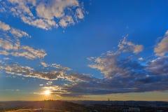 Por do sol em Pretoria fotos de stock royalty free