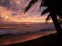 Por do sol em Punta banco Imagem de Stock