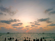 Por do sol em Rameswaram Foto de Stock Royalty Free