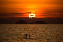 Por do sol em Rio de janeiro Imagem de Stock