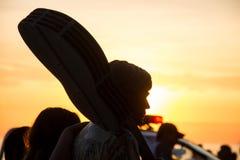 Por do sol em Rio de janeiro Fotografia de Stock