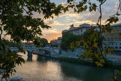 Por do sol em Roma Foto de Stock Royalty Free