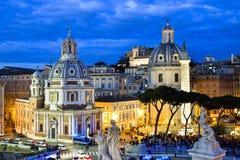 Por do sol em Roma Fotografia de Stock