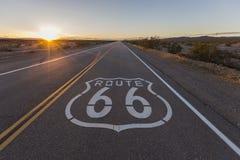 Por do sol em Route 66 Fotos de Stock