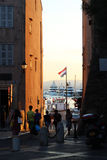 Por do sol em Saint Tropez Fotografia de Stock Royalty Free