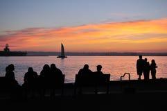 Por do sol em San Diego Foto de Stock Royalty Free