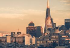 Por do sol em San Francisco foto de stock royalty free