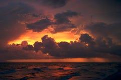 Por do sol em Sanibel Imagem de Stock