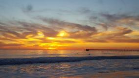 Por do sol em Santa Barbara Fotos de Stock