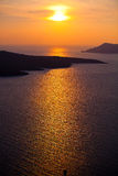 Por do sol em Santorini Foto de Stock Royalty Free