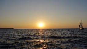 Por do sol em Santorini, Grécia fotografia de stock
