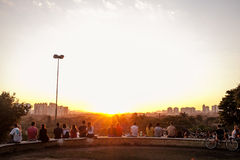 Por do sol em Sao Paulo Imagem de Stock Royalty Free