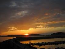 Por do sol em Sardinia imagens de stock royalty free