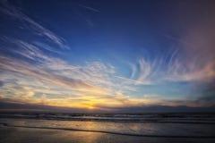 Por do sol em Schiermonnikoog Foto de Stock Royalty Free