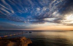Por do sol em Sharm El Sheikh Foto de Stock