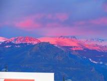 Por do sol em Sierra Nevada Imagens de Stock Royalty Free