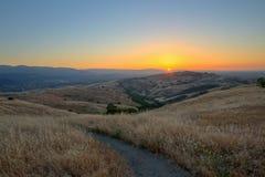 Por do sol em Silicon Valley fotografia de stock