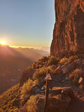 Por do sol em spain, Ilhas Canárias Foto de Stock Royalty Free