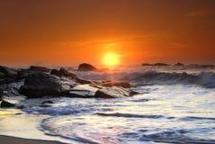 Por do sol em Sri Lanka Fotos de Stock
