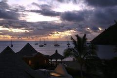 Por do sol em St Lucia foto de stock royalty free