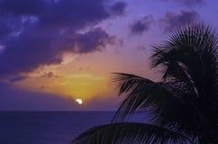 Por do sol em St Martin Imagem de Stock