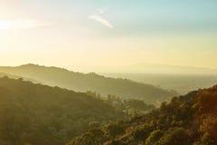 Por do sol em Sun Fernando Valley Imagem de Stock