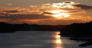 Por do sol em Sweden Fotografia de Stock Royalty Free