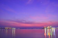Por do sol em Tailândia Fotos de Stock Royalty Free