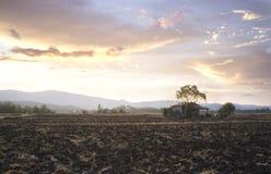 Por do sol em Tailândia Fotografia de Stock