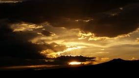 Por do sol em Taos nanômetro Imagem de Stock