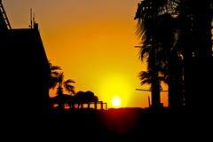 Por do sol em TEL AVIV Imagem de Stock