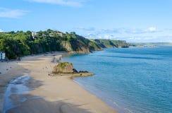 Por do sol em Tenby, Pembrokeshire – Gales, Reino Unido Imagem de Stock Royalty Free