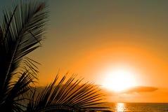 Por do sol em Tenerife Fotografia de Stock