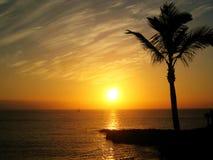 Por do sol em Tenerife (Espanha) Fotos de Stock Royalty Free