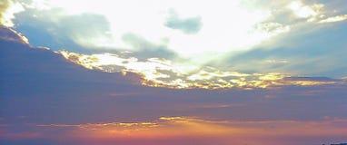 Por do sol em Tessalónica Imagens de Stock Royalty Free