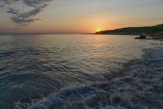 Por do sol em tomas sant, minorca, spain Foto de Stock