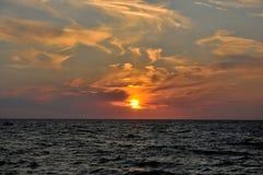 Por do sol em Toscânia Fotografia de Stock