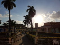 Por do sol em Trinidad Fotos de Stock