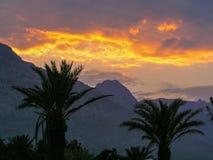 Por do sol em Turquia Imagens de Stock Royalty Free