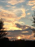 Por do sol em Ufa Imagem de Stock