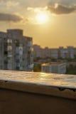 Por do sol em um balcão Imagem de Stock