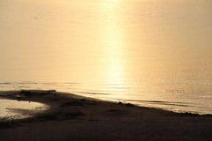 Por do sol em uma areia Foto de Stock Royalty Free