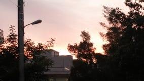 Por do sol em uma noite em Atenas imagem de stock royalty free