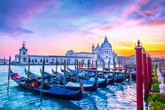Por do sol em Veneza imagens de stock