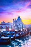 Por do sol em Veneza Fotos de Stock Royalty Free