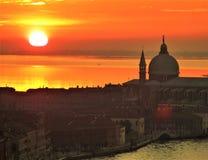 Por do sol em Veneza fotografia de stock royalty free