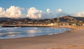 Por do sol em Ventura Califórnia Fotografia de Stock