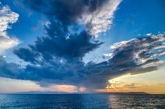 Por do sol em Vladivostok, Rússia Fotografia de Stock Royalty Free
